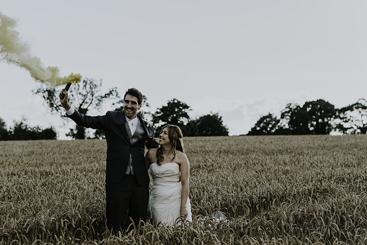 Smoke Bombs Enchanting Country Barn Wedding http://www.dmcclane.com/