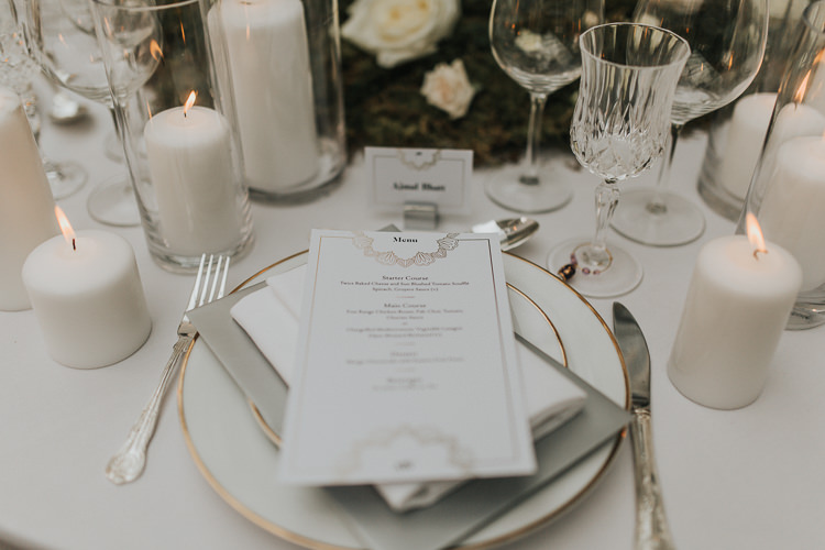 Menu Stationery Place Settting Decor Natural Elegance Asian Fusion Wedding Ideas http://liannegrayphotography.com/