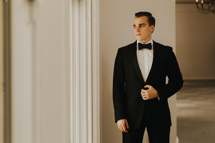 Groom Tuxedo Bow Tie Suit Natural Elegance Asian Fusion Wedding Ideas http://liannegrayphotography.com/