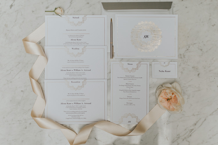 Metallic Stationery Invites Invitations Natural Elegance Asian Fusion Wedding Ideas http://liannegrayphotography.com/