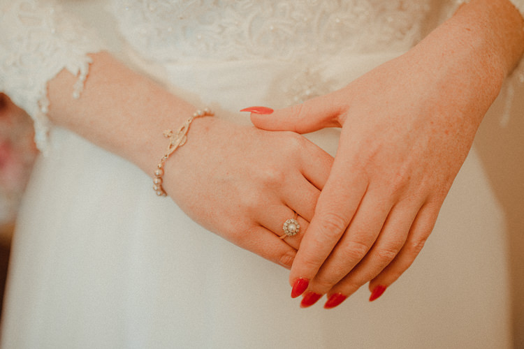 Long Red Nails Manicure Bride Bridal Eclectic Kitsch Retro Fete Wedding http://www.belleartphotography.com/