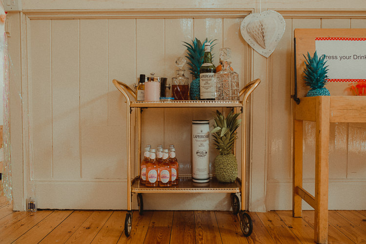 Drinks Trolley Vintage Glam Eclectic Kitsch Retro Fete Wedding http://www.belleartphotography.com/
