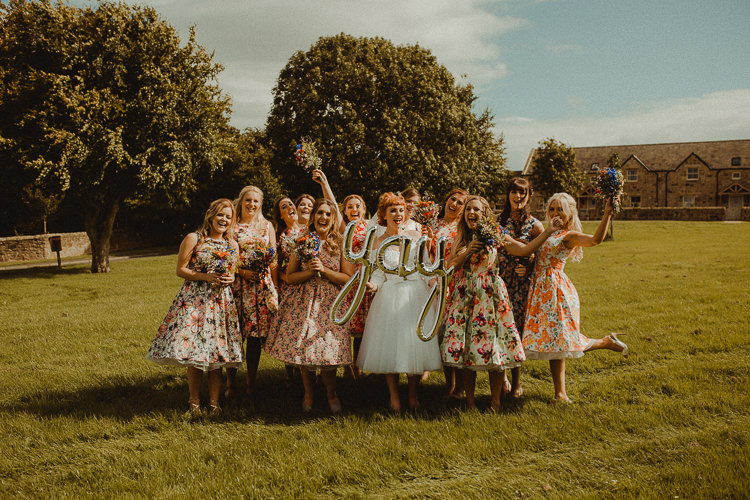 Floral Bridesmaids Prom Dresses Eclectic Kitsch Retro Fete Wedding http://www.belleartphotography.com/