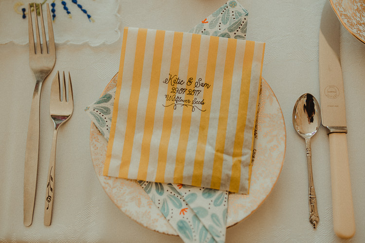 Seeds Favours Place Setting Bag Personalised Eclectic Kitsch Retro Fete Wedding http://www.belleartphotography.com/