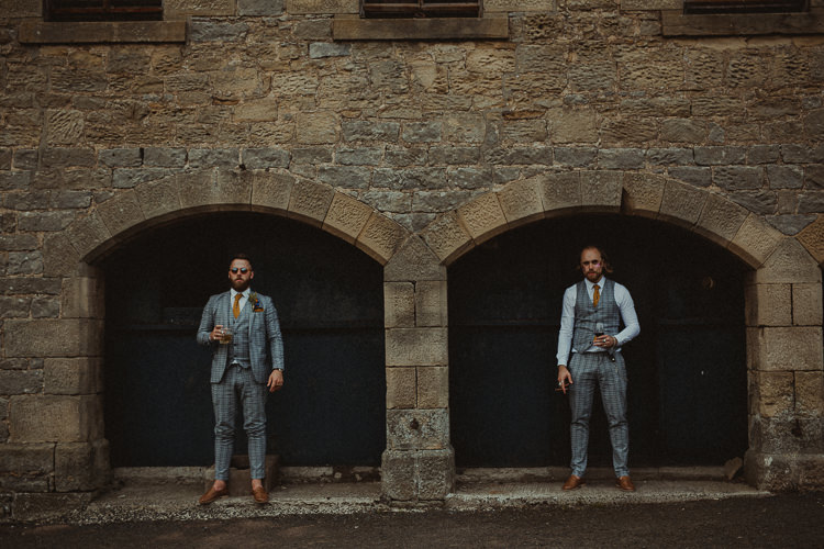 Check Suit Groom Groomsman Waistcoat Eclectic Kitsch Retro Fete Wedding http://www.belleartphotography.com/
