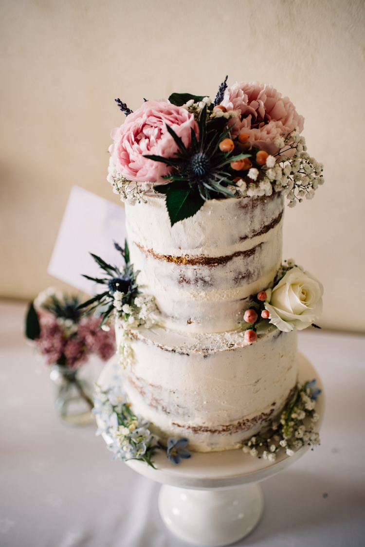 Buttercream Cake Floral Thistle Berries http://jamiedunnphotography.com/