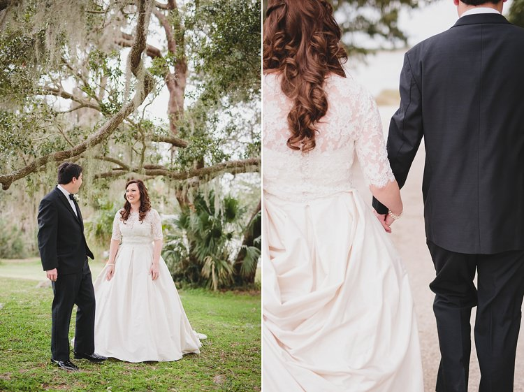 Bride Groom First Look Magical Wedding Ceremony Beneath An Oak Tree Florida http://stephaniew.com/