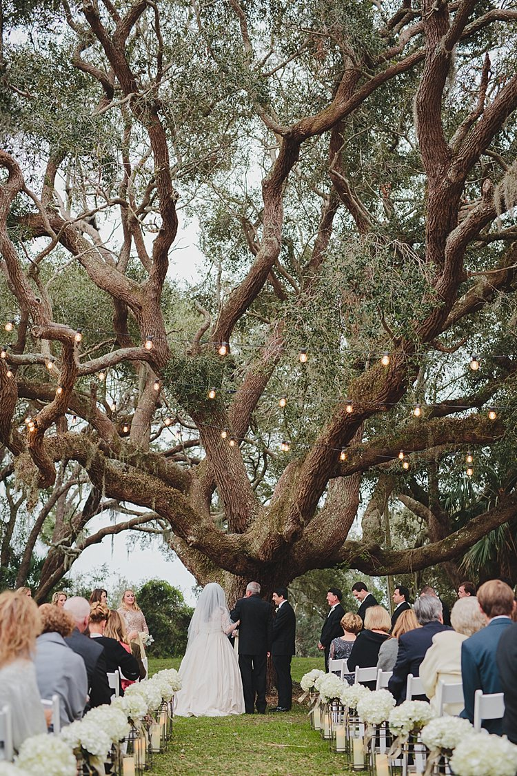 Magical Wedding Ceremony Beneath An Oak Tree in Florida