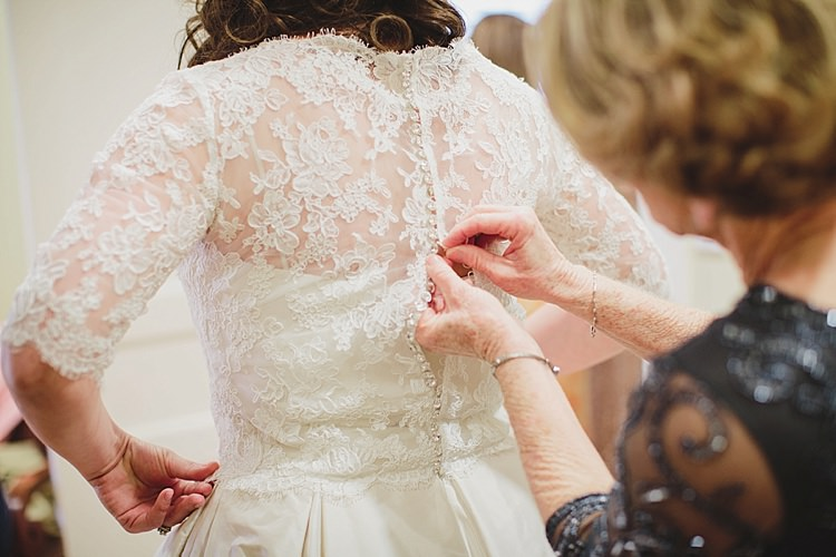 Dress Lace Sleeves Magical Wedding Ceremony Beneath An Oak Tree Florida http://stephaniew.com/