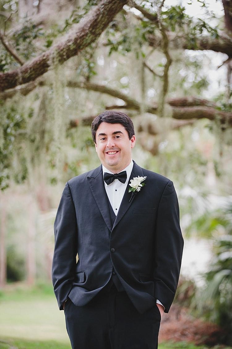 Groom Bow Tie Magical Wedding Ceremony Beneath An Oak Tree Florida http://stephaniew.com/