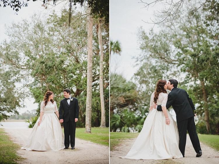 Bride Groom Kiss Magical Wedding Ceremony Beneath An Oak Tree Florida http://stephaniew.com/