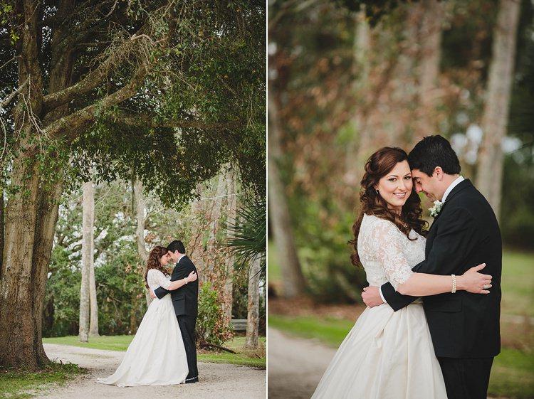 Bride Groom Embrace Magical Wedding Ceremony Beneath An Oak Tree Florida http://stephaniew.com/