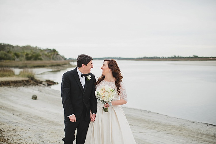Bride Groom Water Walk Magical Wedding Ceremony Beneath An Oak Tree Florida http://stephaniew.com/