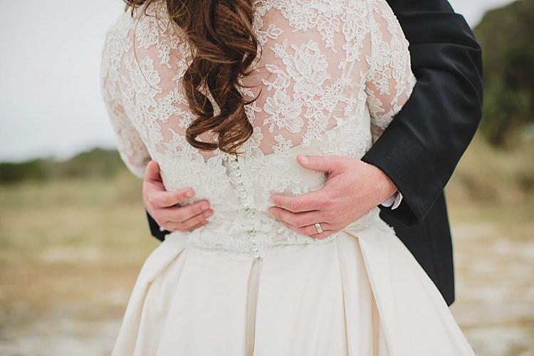 Bride Lace Dress Sleeves Magical Wedding Ceremony Beneath An Oak Tree Florida http://stephaniew.com/