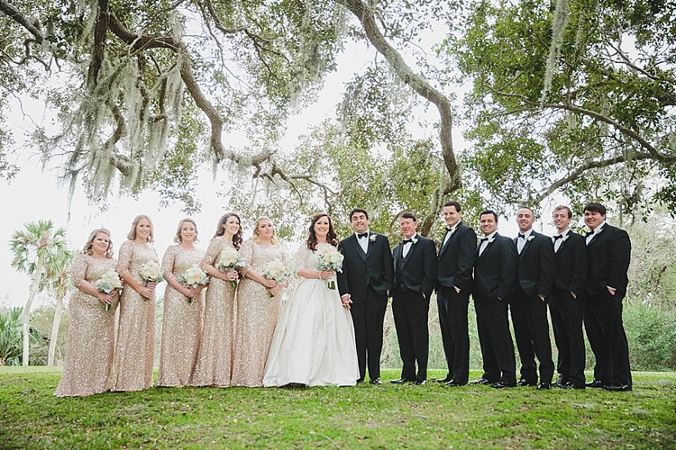 Bridal Party Magical Wedding Ceremony Beneath An Oak Tree Florida http://stephaniew.com/