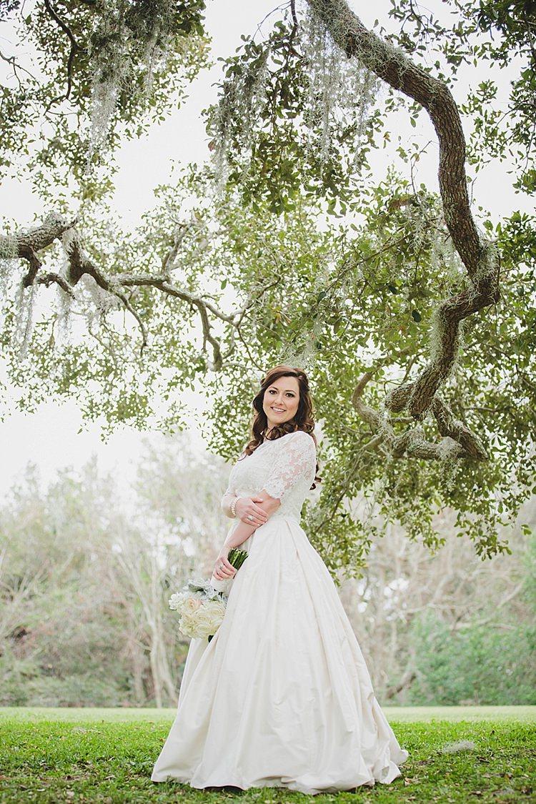 Bride Magical Wedding Ceremony Beneath An Oak Tree Florida http://stephaniew.com/