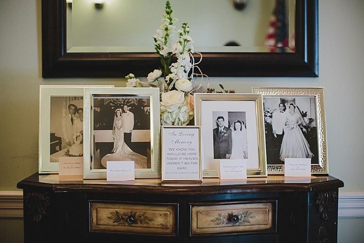 Family Photographs In Memory Magical Wedding Ceremony Beneath An Oak Tree Florida http://stephaniew.com/