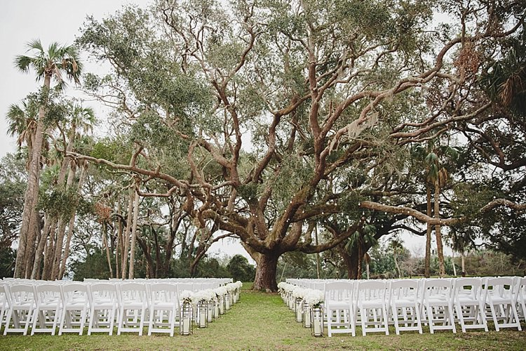 Chairs Aisle Outdoors Magical Wedding Ceremony Beneath An Oak Tree Florida http://stephaniew.com/