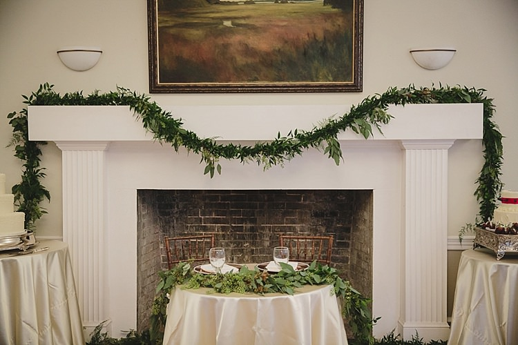 Sweetheart Table Greenery Decor Magical Wedding Ceremony Beneath An Oak Tree Florida http://stephaniew.com/