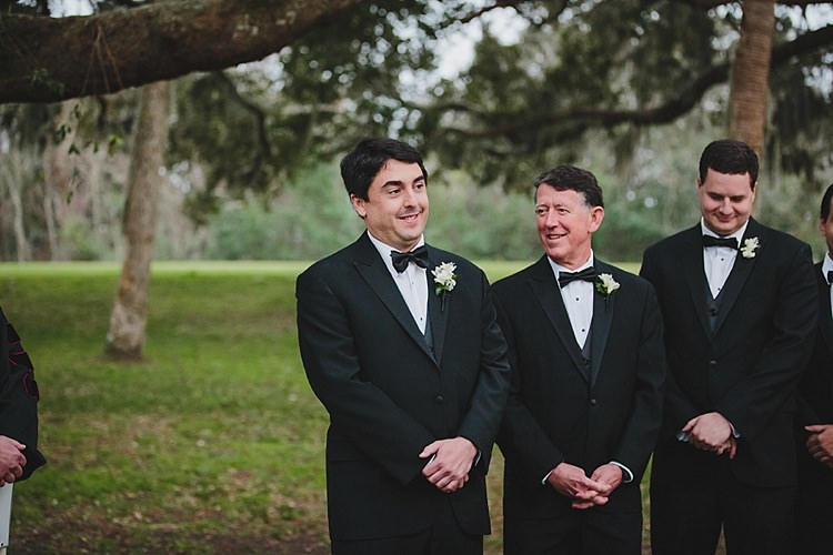 Groomsmen Magical Wedding Ceremony Beneath An Oak Tree Florida http://stephaniew.com/