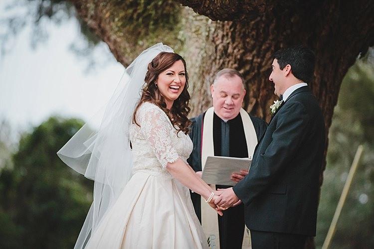 Bride Groom Laughter Magical Wedding Ceremony Beneath An Oak Tree Florida http://stephaniew.com/