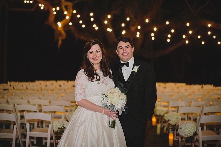 Bride Groom Evening Magical Wedding Ceremony Beneath An Oak Tree Florida http://stephaniew.com/