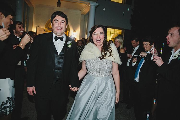 Bride Groom Evening Exit Bubbles Magical Wedding Ceremony Beneath An Oak Tree Florida http://stephaniew.com/