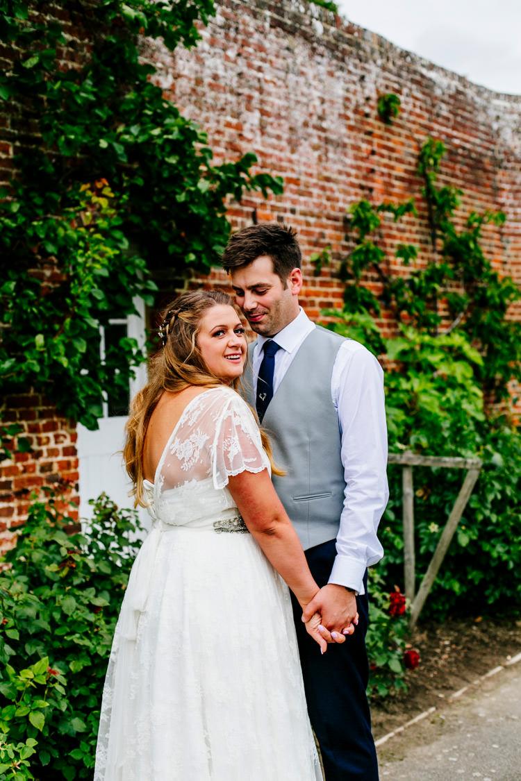 Bride Bridal Dress Gown Charlie Brear Strapless Overdress Belt Jack Bunneys Groom Waistcoat Three Piece Grey Stylish Sassy Gin Wedding http://epiclovestory.co.uk/