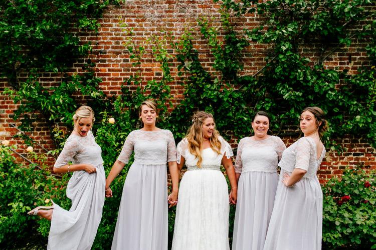Bride Bridal Dress Gown Charlie Brear Strapless Overdress Belt House of Fraser Bridesmaids Lilac Grey Stylish Sassy Gin Wedding http://epiclovestory.co.uk/
