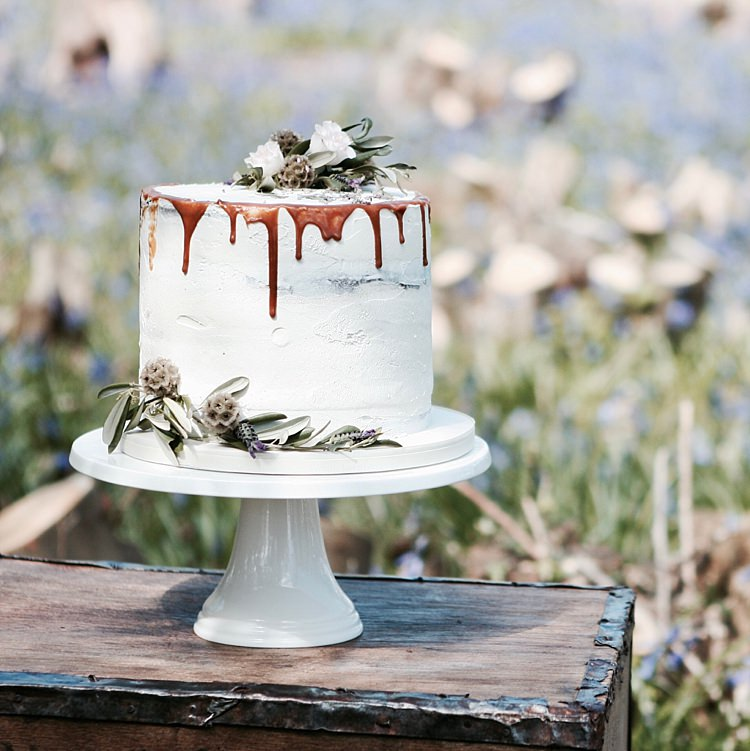 Buttercream Drip Cake Floral Rustic http://dmbaker.co.uk/