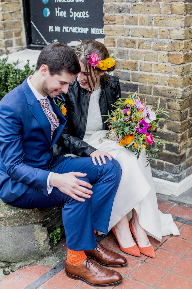 Cool Indie City Wedding Leather Jackets Dinosaurs http://www.charlottehuphotography.co.uk/