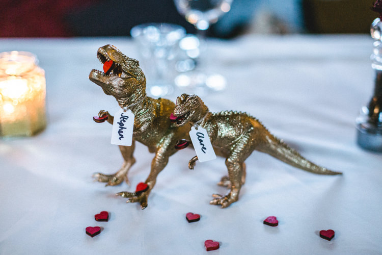 Gold Party Dinosaur Painted Birthday Decoration Topper Room Decor