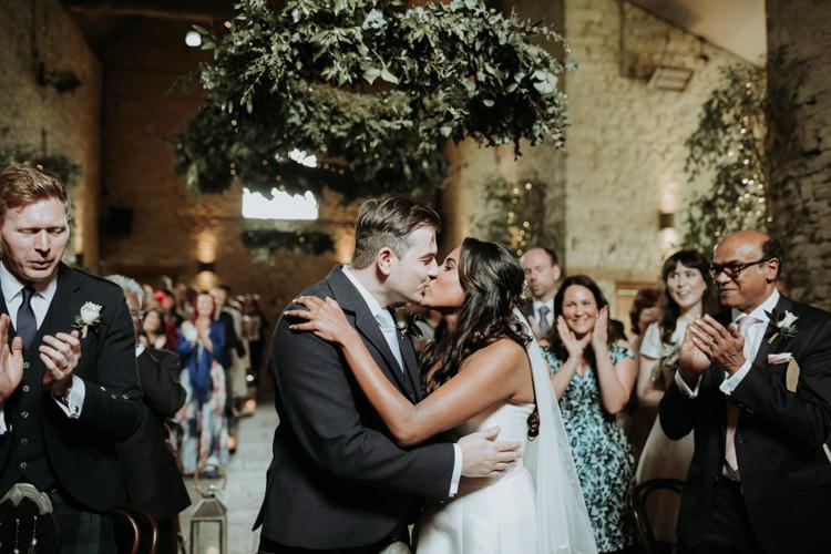 Modern Rose Gold Barn Wedding https://www.paulfullerkentphotography.com/