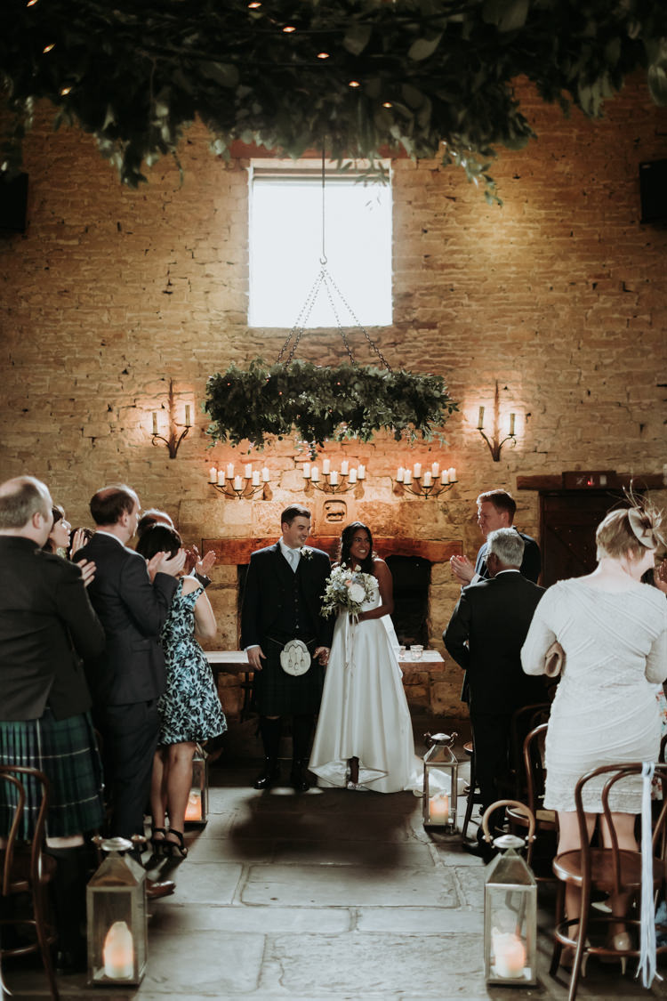 Greenery Foliage Hanging Hoop Chandeliers Modern Rose Gold Barn Wedding https://www.paulfullerkentphotography.com/