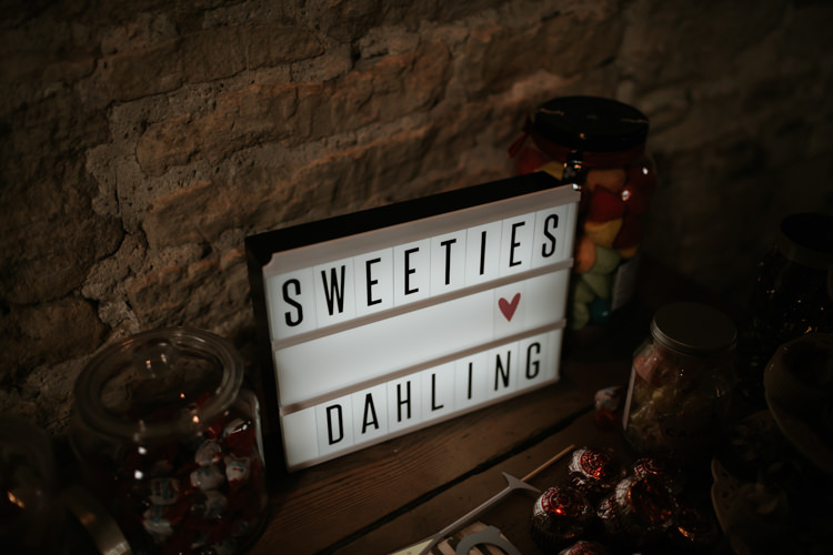 Sweets Sweetie Table Modern Rose Gold Barn Wedding https://www.paulfullerkentphotography.com/