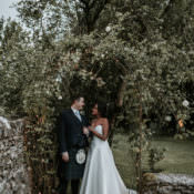Modern Rose Gold Barn Wedding