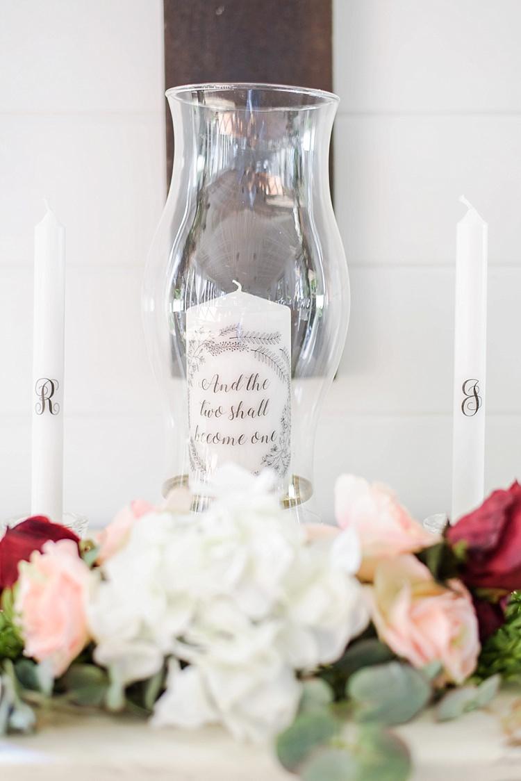 Candle Lamp Table Decor Romantic Twinkling Garden Wedding http://sarahben.com/