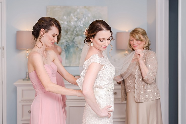 Bride Getting Ready Bridesmaid Romantic Twinkling Garden Wedding http://sarahben.com/
