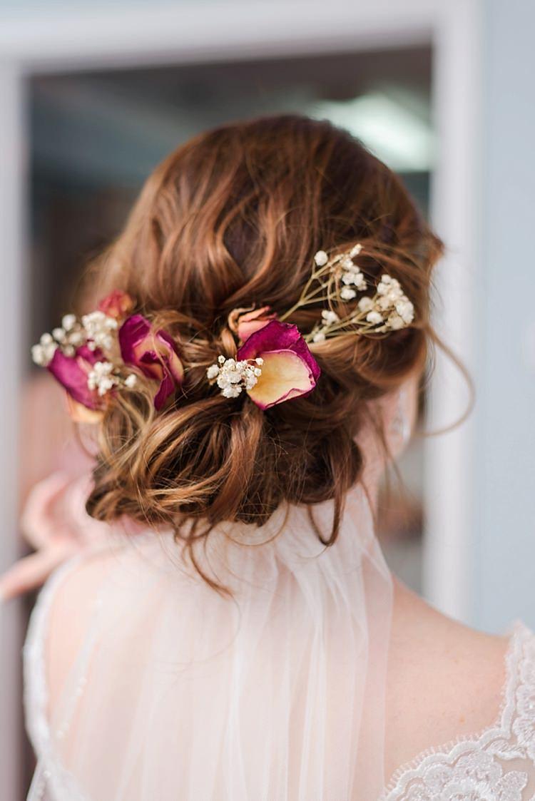 Bride Veil Flower Crown Romantic Twinkling Garden Wedding http://sarahben.com/