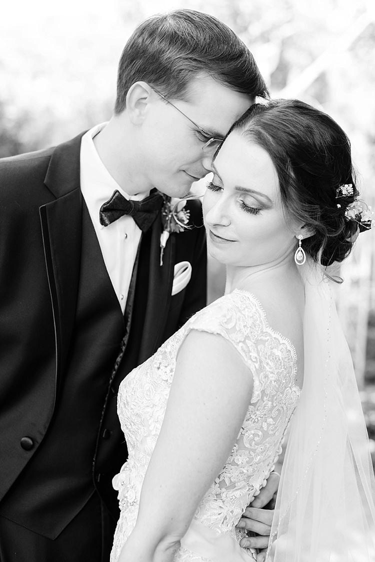 Bride Groom Close Romantic Twinkling Garden Wedding http://sarahben.com/