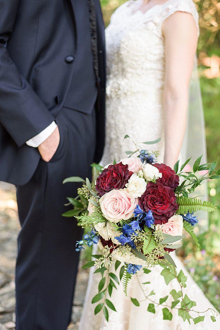 Bride Groom Bouquet Romantic Twinkling Garden Wedding http://sarahben.com/