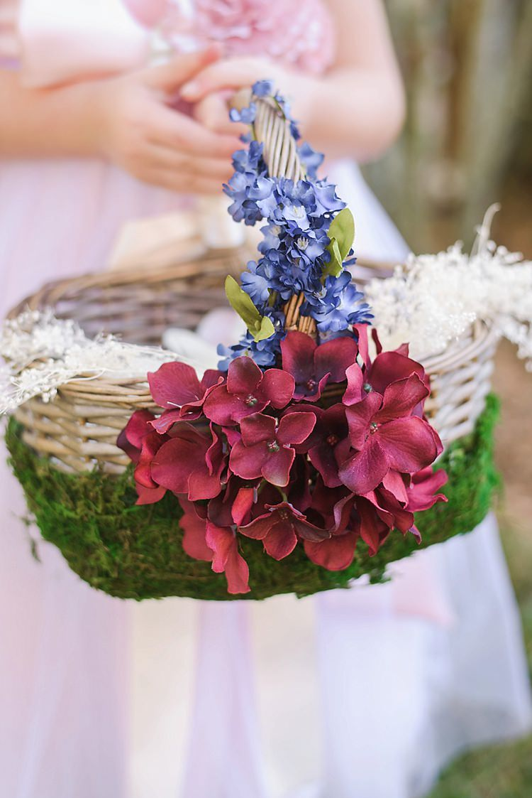 Flower Girl Basket Romantic Twinkling Garden Wedding http://sarahben.com/