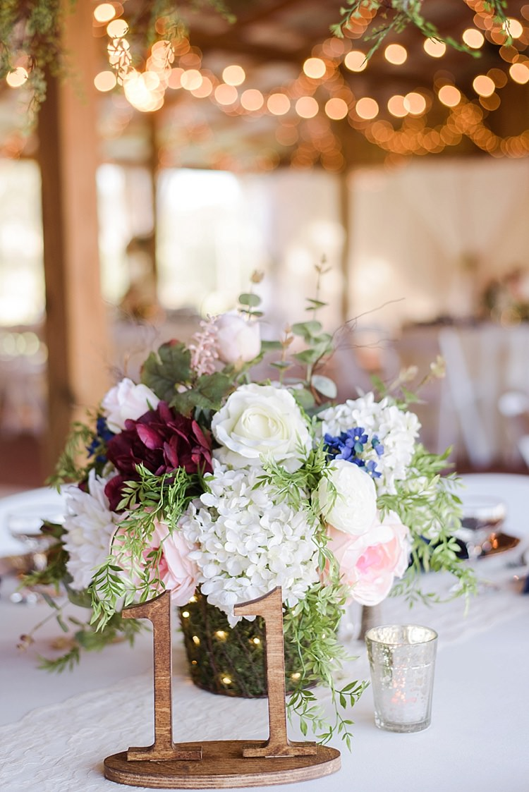 Table Decor Romantic Twinkling Garden Wedding http://sarahben.com/