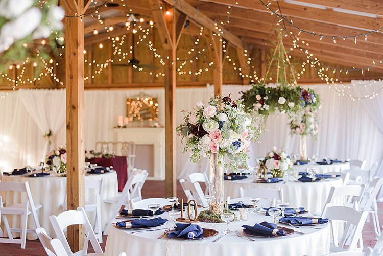 Reception Tables White Romantic Twinkling Garden Wedding http://sarahben.com/