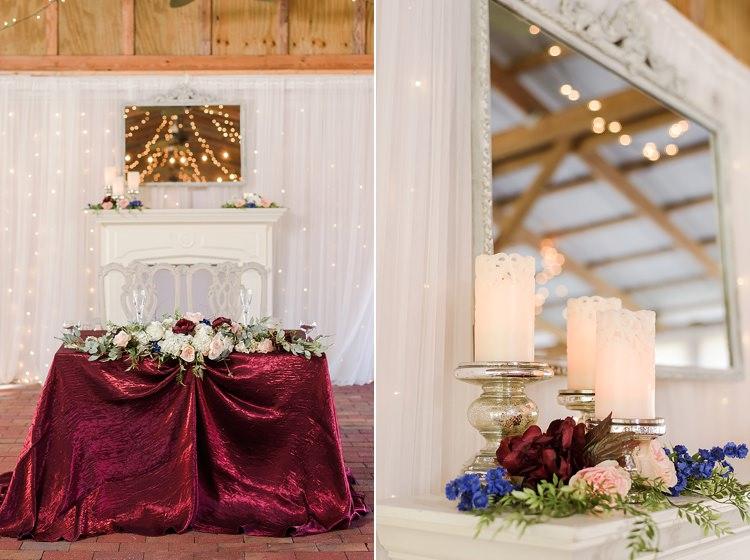 Sweetheart Table Candles Romantic Twinkling Garden Wedding http://sarahben.com/