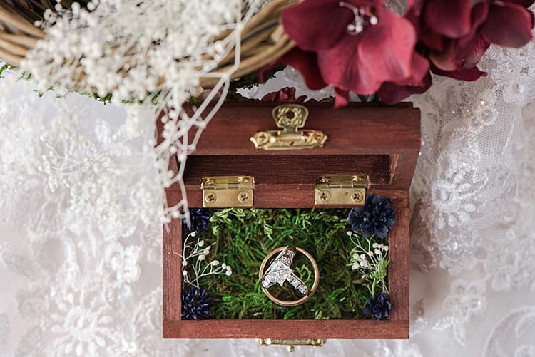 Wedding Rings Boxes Romantic Twinkling Garden Wedding http://sarahben.com/