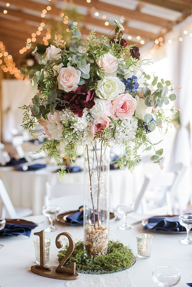 Table Decor Floral Romantic Twinkling Garden Wedding http://sarahben.com/