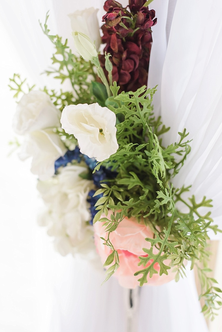 Flowers Romantic Twinkling Garden Wedding http://sarahben.com/