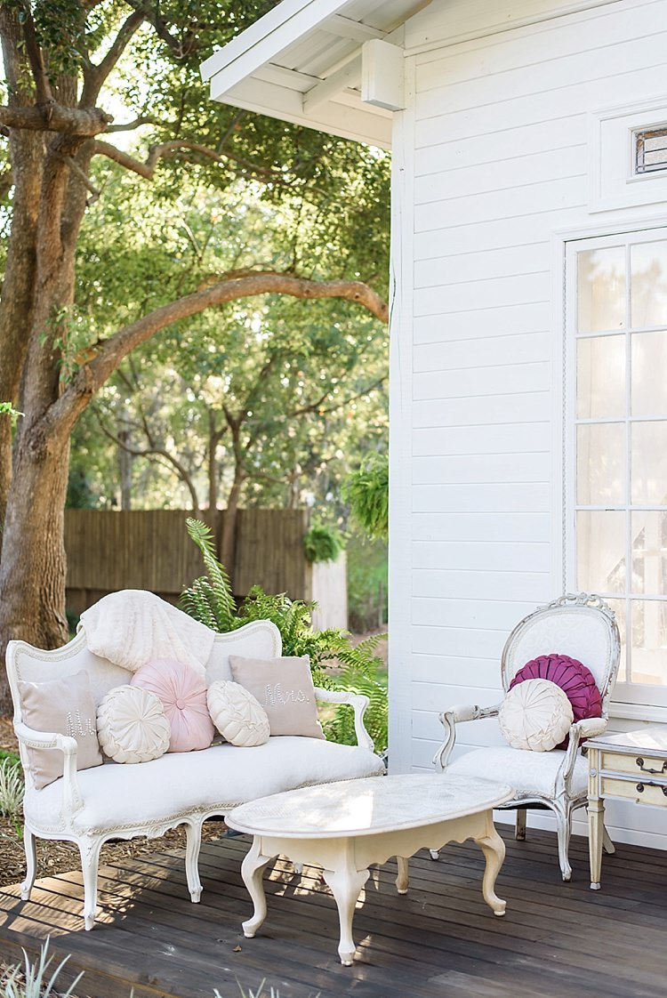 Cushions Seating Romantic Twinkling Garden Wedding http://sarahben.com/