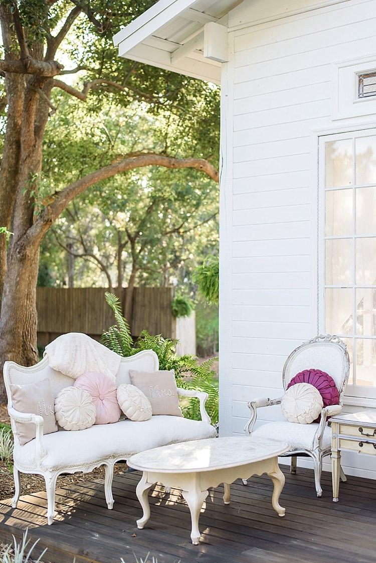 Cushions Seating Romantic Twinkling Garden Wedding http://sarahben.com/